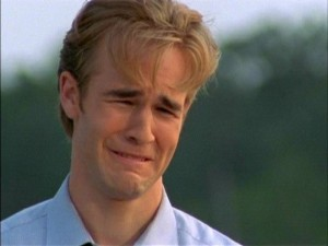 Dawson from D Creek crying, I don't cry like this.